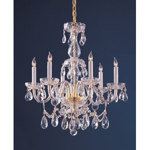 Willa Arlo Interiors Careen Traditional 6-Light Candle Style Chandelier