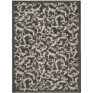 Beasley All Over Ivy Black Indoor/Outdoor Area Rug