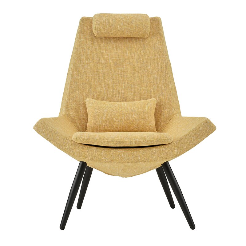 Sease Modern Linen Living Room Lounge Chair  sc 1 st  Wayfair & Wrought Studio Sease Modern Linen Living Room Lounge Chair u0026 Reviews ...