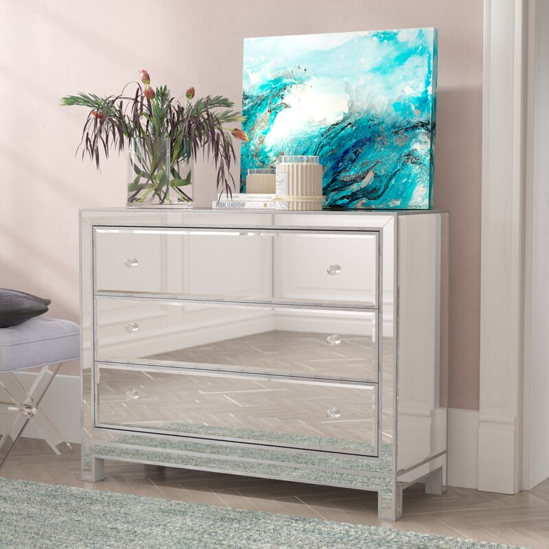 Tracey 3 Drawers Mirrored Accent Chest by Willa Arlo Interiors