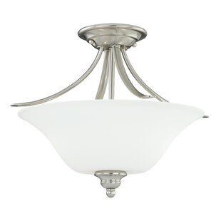 Nicholas 2-Light Semi Flush Mount by Ebern Designs