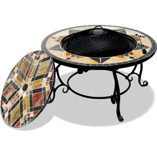 Bowles Cast Iron Charcoal/Wood Burning Fire Pit Table By Bloomsbury Market