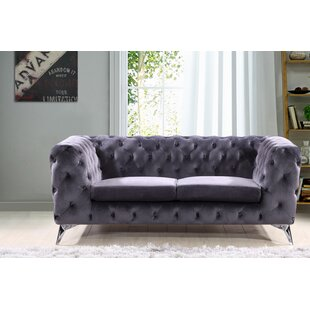 Price comparison Khan Chesterfield Loveseat by Mercer41 Reviews (2019) & Buyer's Guide