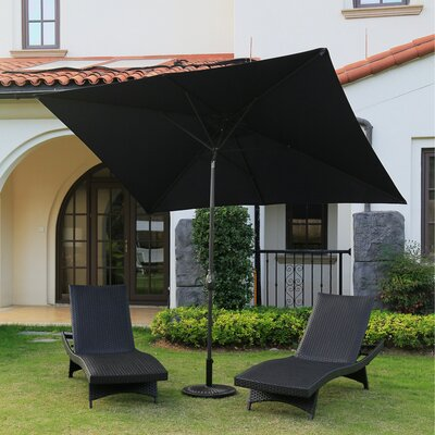 Aida 6.5 X 10 Rectangular Market Umbrella by Freeport Park 2020 Online