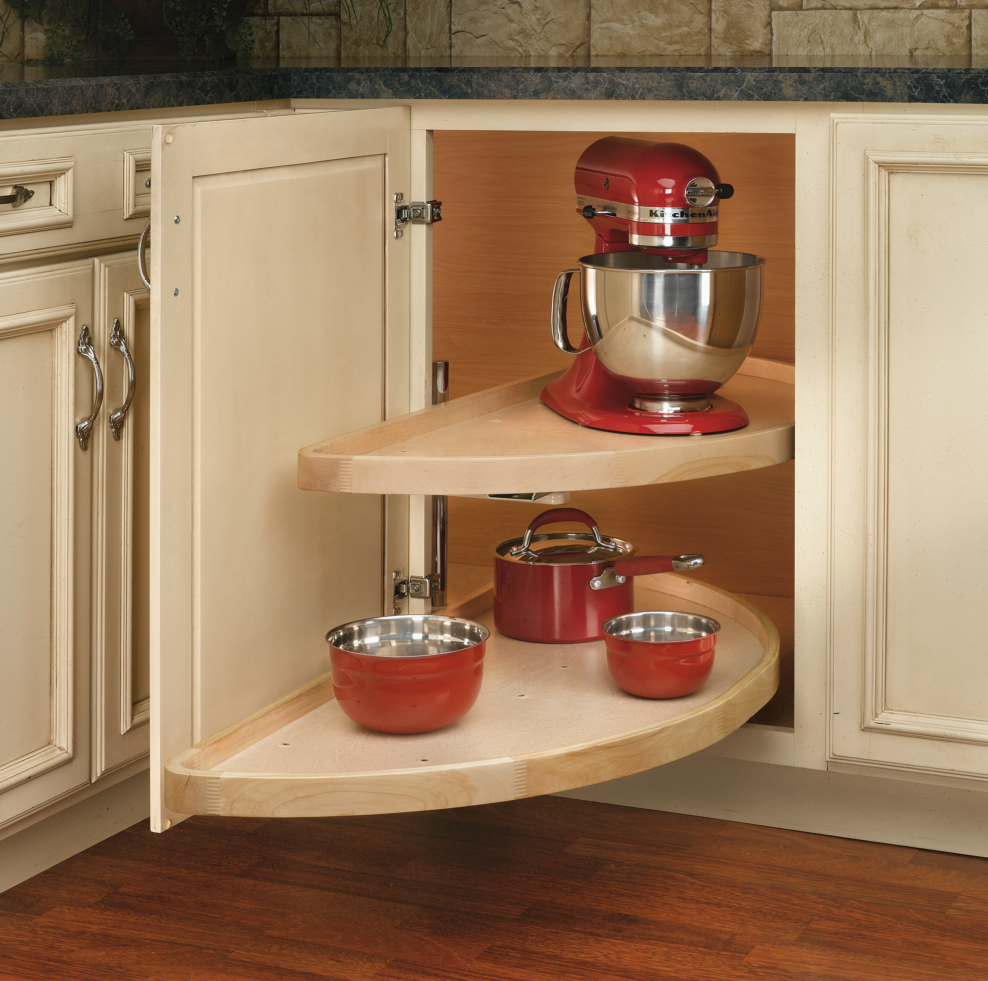 cabinet at com shop a rev tier full shelf lazy pd wood susan circle lowes