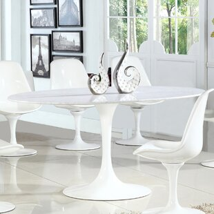 Sariah Oval Artificial Marble Dining Table