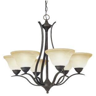 Andover Mills Corwin 6-Light Shaded Chandelier