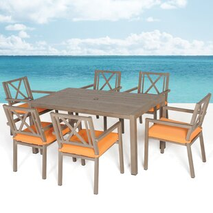 Meadow Decor Avalon 7 Piece Dining Set with Cushions
