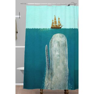 The Whale Single Shower Curtain