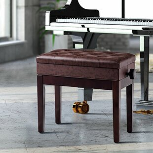 Winston Porter Citlali Height Adjustable Upholstered Storage Piano Bench
