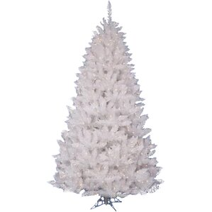 crystal white spruce 35 artificial christmas tree with 90 led white lights with stand - 3 Foot White Christmas Tree