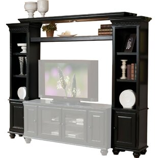 Holmwood Wooden Wall Unit with Two Piers and Bridge