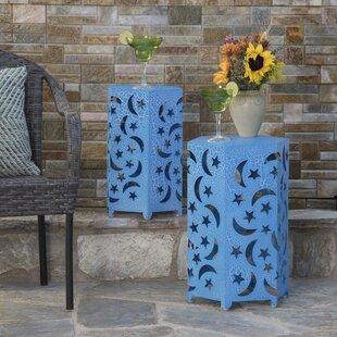 Antoinette Metal Side Table (Set of 2) by Bungalow Rose