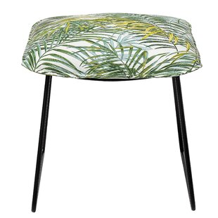 Salome Bamboo Print Vanity Stool by Bay Isle Home