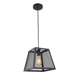 Poulson 1-Light Lantern Pendant by Willis..
