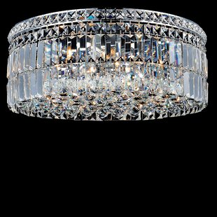 Willa Arlo Interiors Navya 10-Light Glass Shade Flush Mount