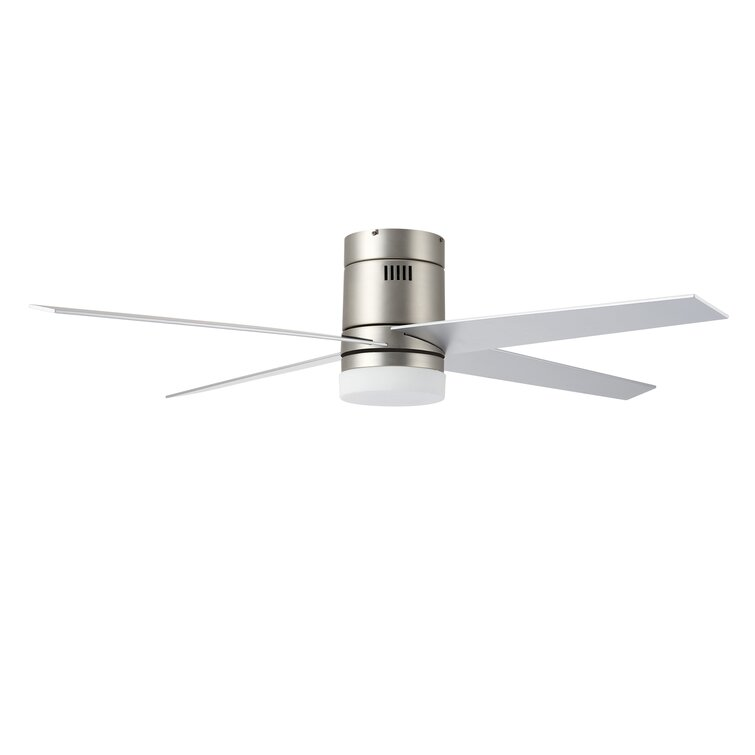 Latitude Run 52 Arauz 4 Blade Led Flush Mount Ceiling Fan With Remote Control And Light Kit Included Reviews Wayfair