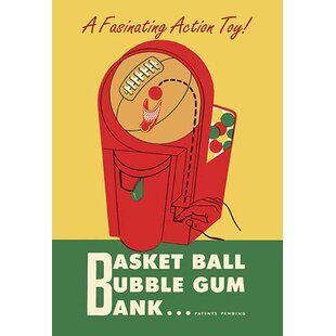 'Basket Ball Bubble Gum Bank' Vintage Advertisement By Buyenlarge
