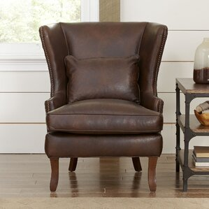 leather living room chairs. Solomon Wingback Chair Leather Chairs You ll Love  Wayfair