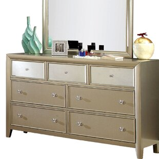 Herve 7 Drawer Dresser with Mirror