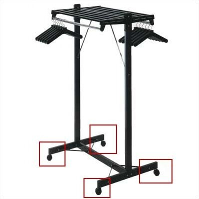 "DS Series Floor Valet Stand Color: Black, Style: Single (DSF), Size: 60"" W"