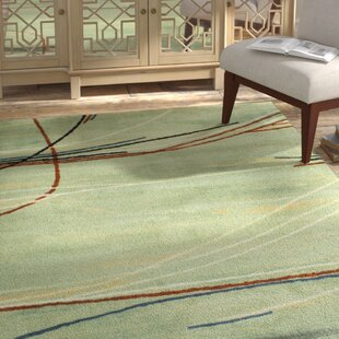 Compare prices Collingdale Green Area Rug By Bloomsbury Market