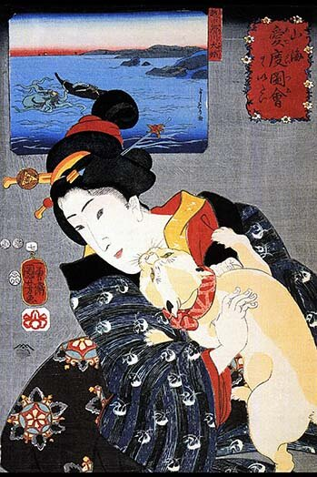 Buyenlarge Cat And Noble Woman Graphic Art Print Wayfair