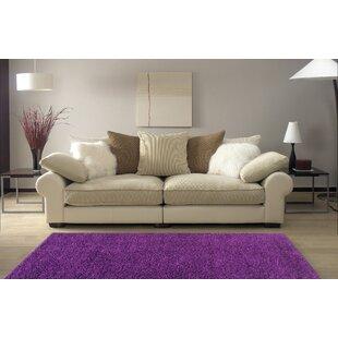 Armina Shag Purple Area Rug by Ebern Designs