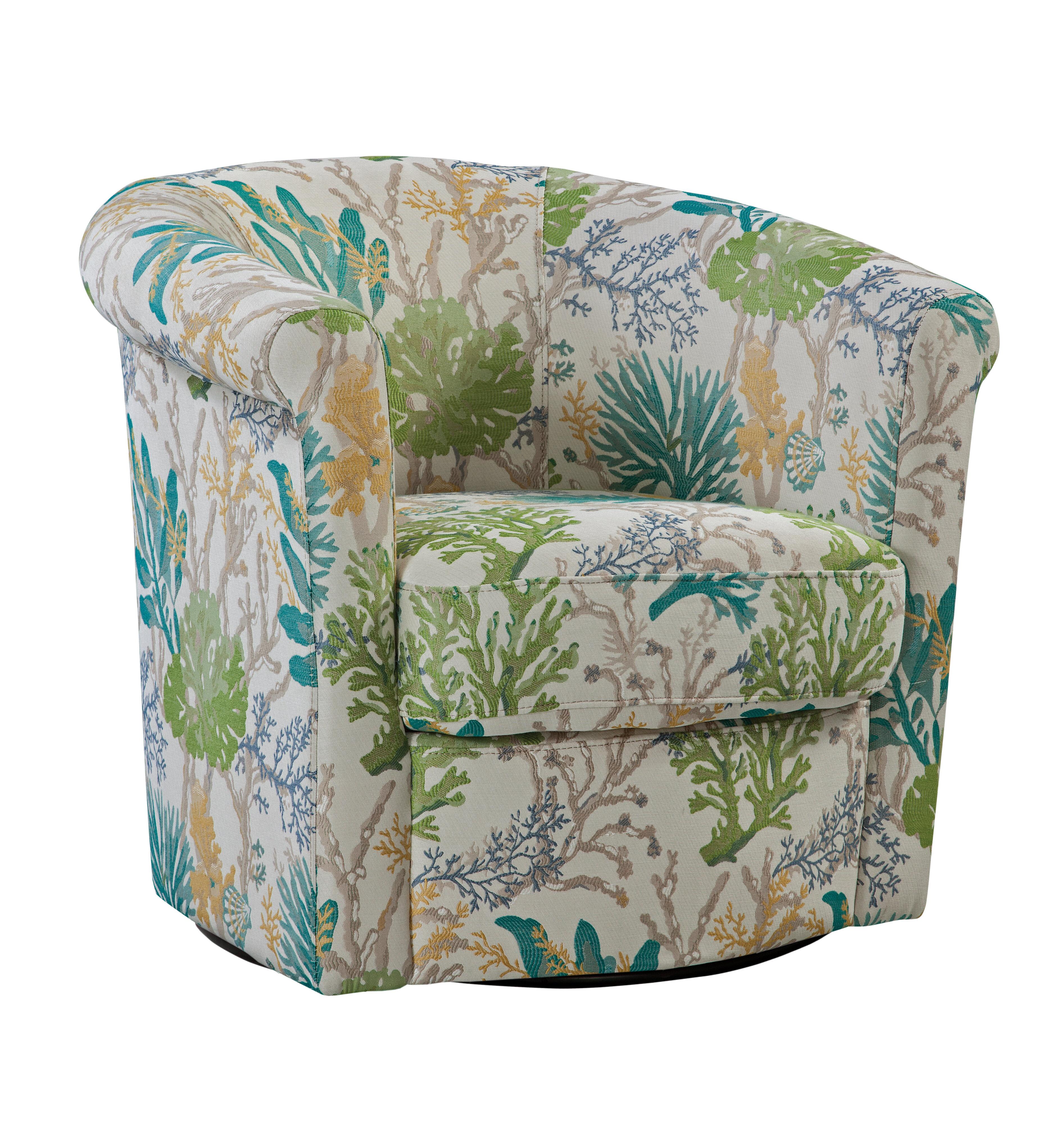 Winston Porter Pinehill 29 W Faux Leather Swivel Barrel Chair Reviews