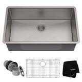 "Standart PRO? 32"" L x 19"" W Undermount Kitchen Sink with Drain Assembly"