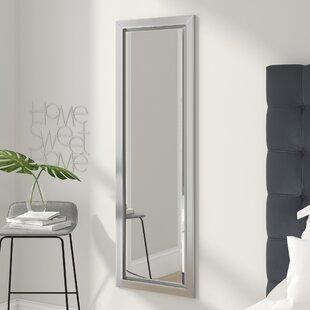 Shop For Round Edge Minimal Silver Full Length Beveled Body Mirror ByWade Logan