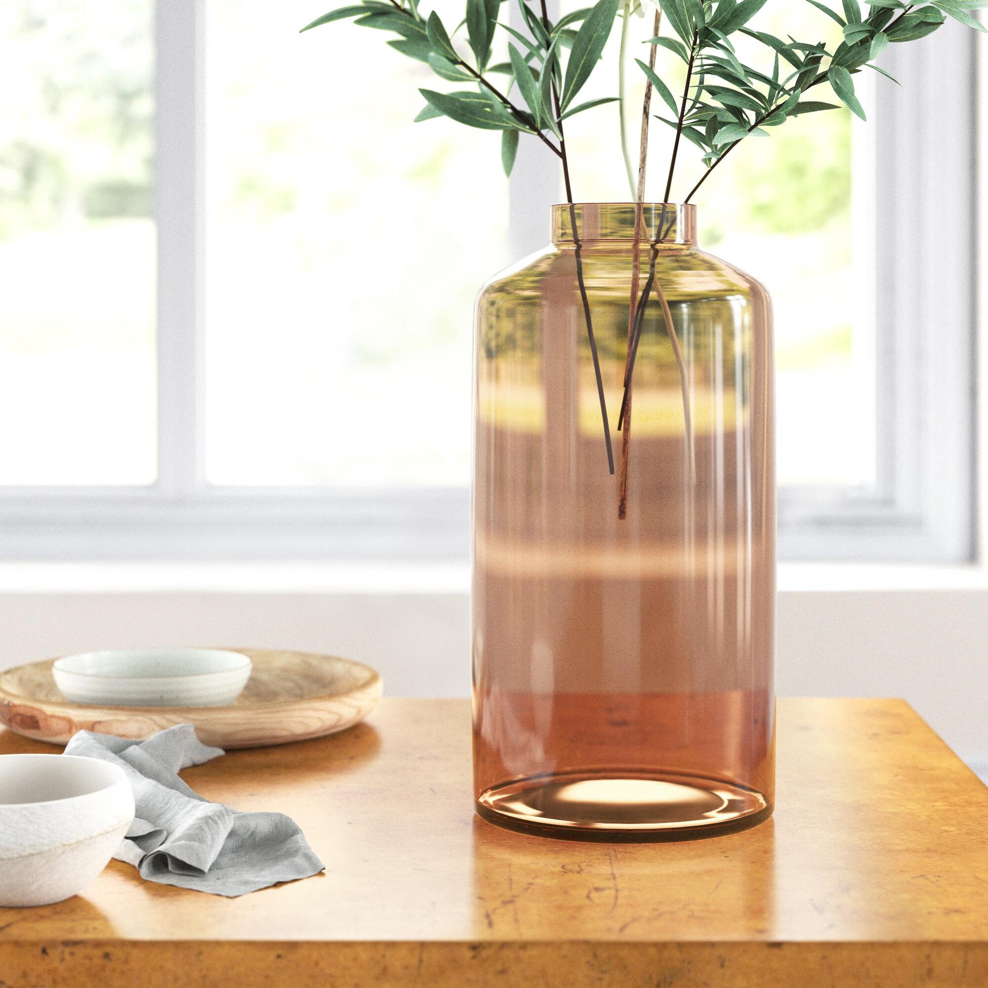 Astala Brown 12 5 Glass Table Vase Joss Main