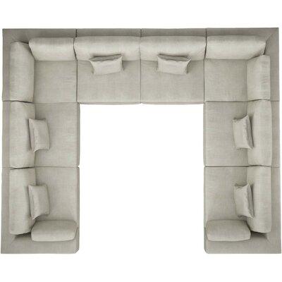 Orren Ellis Syd U-Shaped Modular Sectional Upholstery: Moonbeam