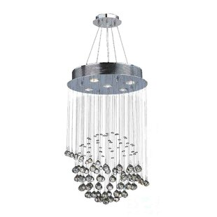 Orren Ellis Leiker Modern 5-Light Crystal Chandelier