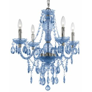 Willa Arlo Interiors Ice Palace 4-Light Crystal Chandelier
