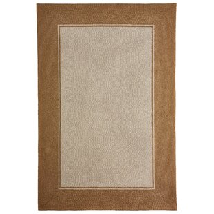 Enoch Border Hand-Woven Camel Indoor/Outdoor Area Rug