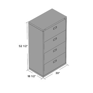 Symple Stuff Jennie 4 Drawer File