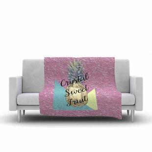 Best Price Victoria Krupp Crystal Sweet Fruit Fleece Blanket ByEast Urban Home