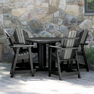 Longshore Tides Deerpark 5 Piece Round Counter Height Dining Set