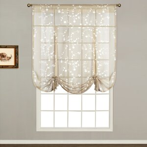 Alderbrook Nature / Floral Sheer Rod Pocket Single Curtain Panel