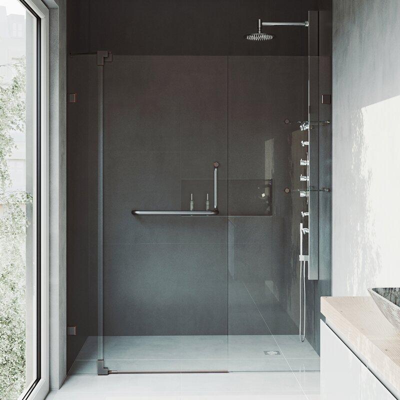 Vigo pirouette 48 x 72 pivot frameless shower door reviews wayfair pirouette 48 x 72 pivot frameless shower door planetlyrics Choice Image