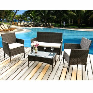 Sian 4 Seater Rattan Conversation Set By Sol 72 Outdoor