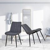 Dowe Tufted Linen Side Chair (Set of 2) by 17 Stories
