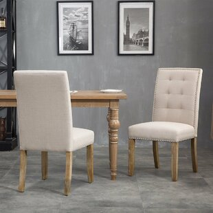 Una Upholstered Dining Chairs (Set of 2) (Set of 2) by Gracie Oaks