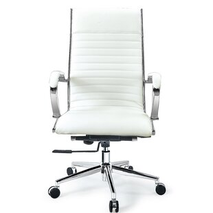 Reviews Covertt High Back Swivel Leather Executive Chair by Orren Ellis