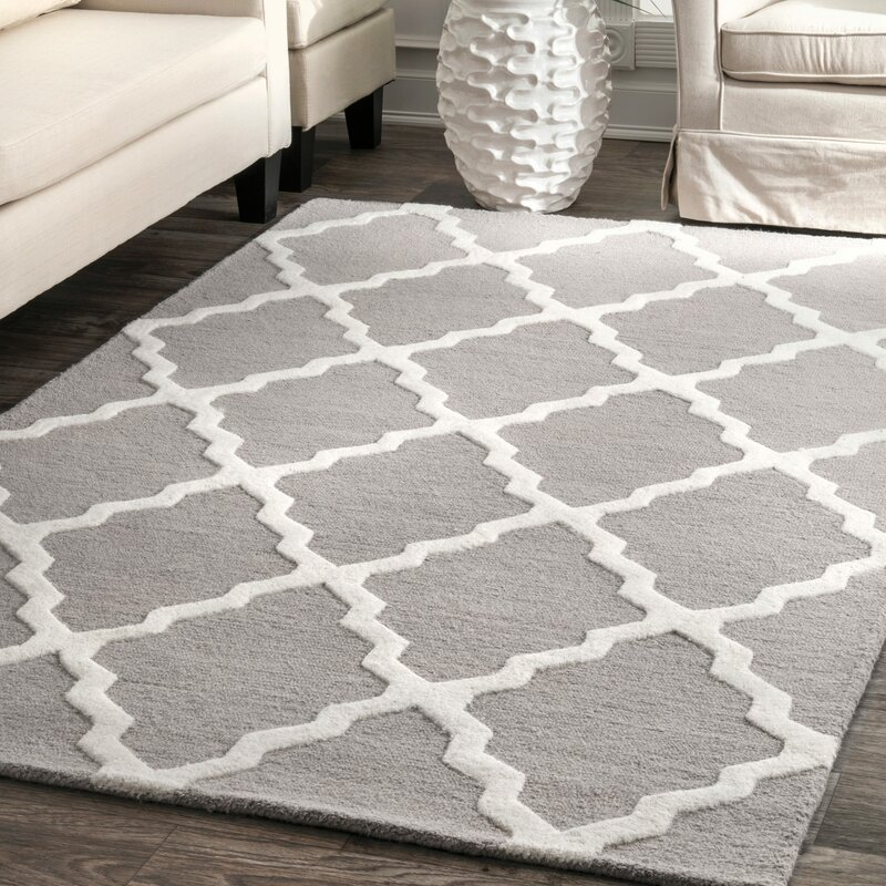 wrought studio tadlock hand woven gray area rug reviews. Black Bedroom Furniture Sets. Home Design Ideas