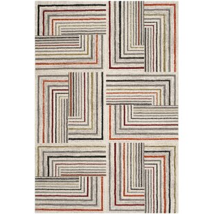 Sirmans Ivory Grey Area Rug By Wrought Studio
