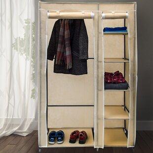 Berns 107cm Wide Portable Wardrobe By Rebrilliant