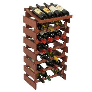 Wooden Mallet Dakota 28 Bottle Floor Wine Rack