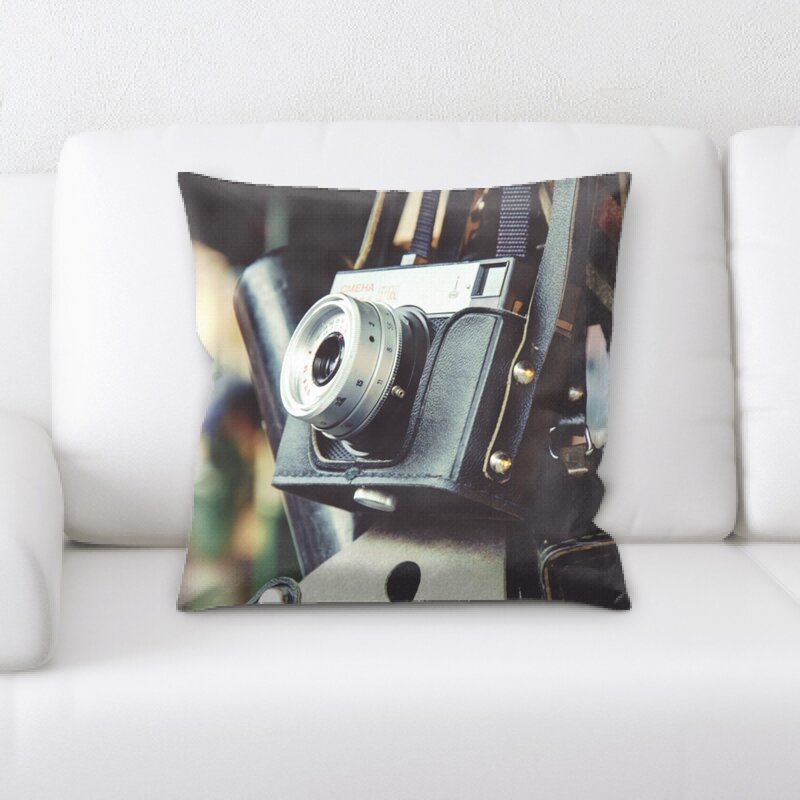 East Urban Home Camera Throw Pillow Wayfair